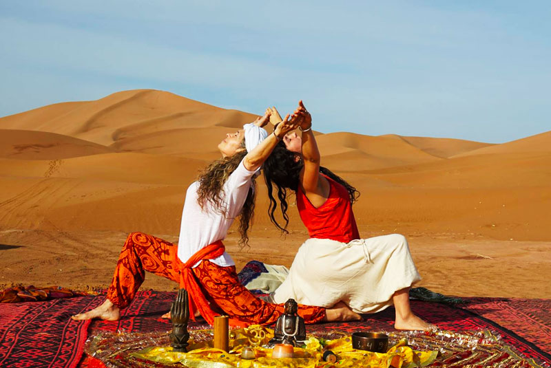 Retraites stages yoga dans le désert marocain