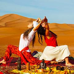 Camel trekking and spirit walking holiday in the Moroccan Sahara Desert